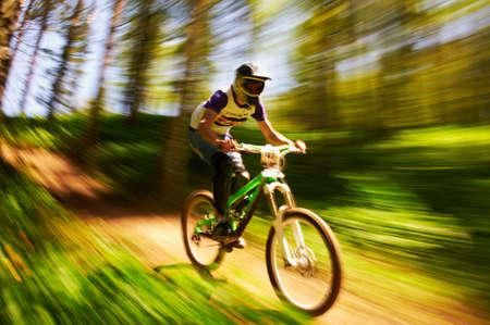 mountain bike: ALMATY, KAZAKHSTAN - MAY 27: V.Sorokin (N47) in action at Freestyle Mountain Bike Session in Almaty, Kazakstan MAY 27, 2012.