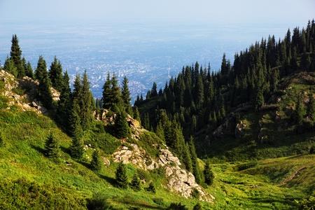 kazakhstan: Summer Tien-Shan mountains near Almaty city,  Kazakhstan