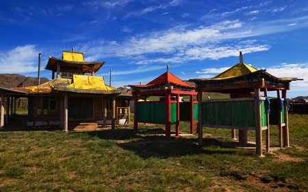 monastery nature: A deserted Buddhist temple in the village of Songino in northern Mongolia.