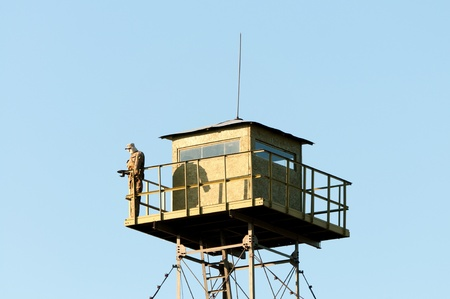 Border Guard watchtower and dummy soldier Stock Photo - 17269562
