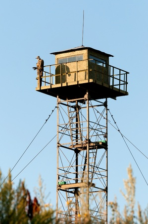 Border Guard watchtower and dummy soldier