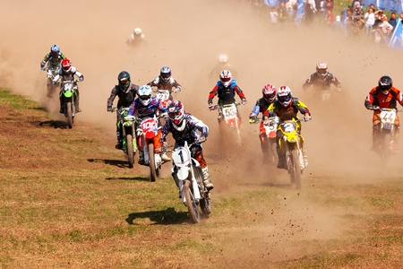 ALMATY, KAZAKHSTAN - APRIL 22: Motocross competition
