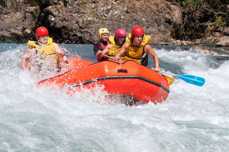rafting: ALMATY, KAZAKHSTAN - AUGUST 05 Competition