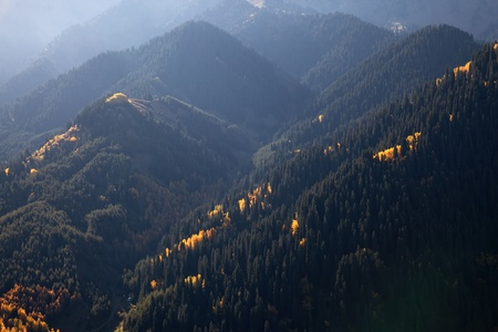 tien shan: Autumn in the mountains of Tien Shan, Kazakhstan Stock Photo