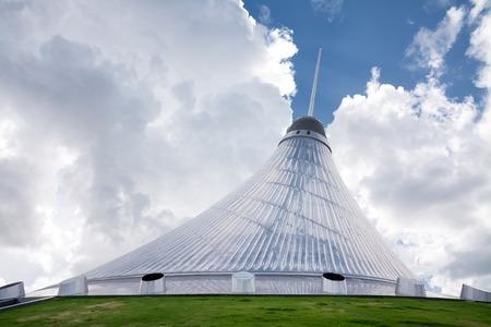 astana: ASTANA, KAZAKHSTAN - AUG 13, 2013: Khan Shatyr (Royal Marquee) is a giant transparent tent in Astana, the capital city of Kazakhstan.  Editorial