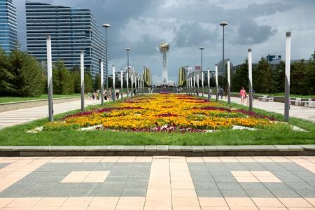 astana: ASTANA, KAZAKHSTAN - AUG 13, 2013: A central place of Astana - national capital of Kazakhstan Editorial