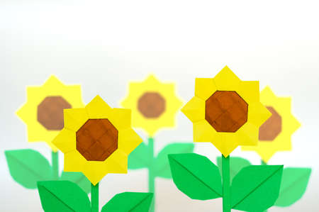 Origami flower decoration photo