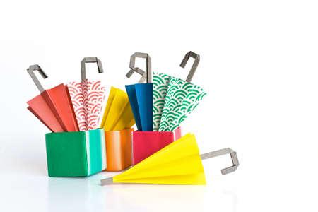 Paper umbrella in different colours