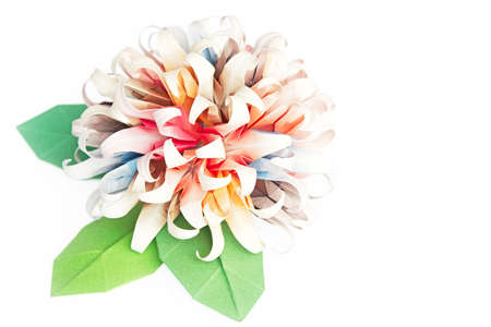 A origami flower ball on a white background