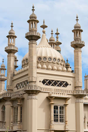 Details of the exotic oriental spires of Royal Pavilion, Brighton