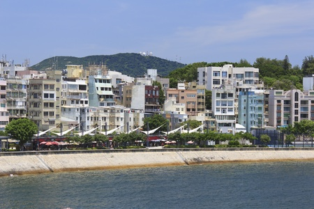 Photo of Stanley Promenade lined with restaurants and cafes and residential buildings