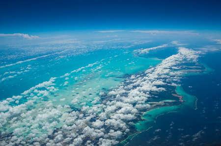 turks: Vista a�rea de las Islas Turcas y Caicos