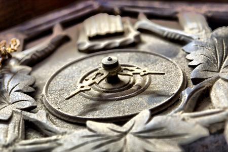 dusty: Old dusty clocks on wall