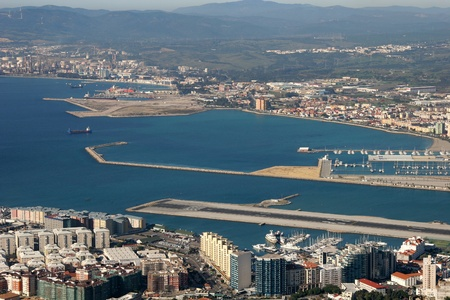 gibraltar: Aerial View of Gibraltar City