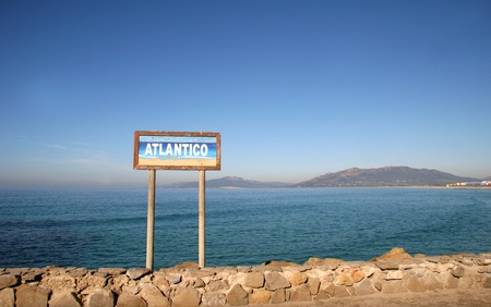 gibraltar: Strait of Gibraltar - Tarifa, Spain - Southern Point of Europe Stock Photo