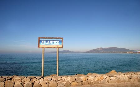 tarifa: Strait of Gibraltar - Tarifa, Spain - Southern Point of Europe Stock Photo