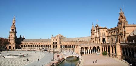 espana: Moorish Medieval - Plaza Espana, Seville Stock Photo