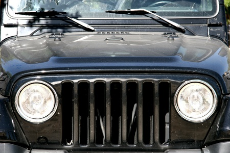 Front of the famous car Jeep Wrangler Stock Photo - 12462794