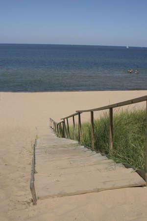 snorkle: Steps to the Beach