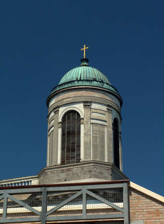Basilica tower cupola in Esztergom (Hungary) Stock Photo