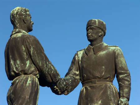 hungaryan and russian friendsip. this is an old statue! :-)