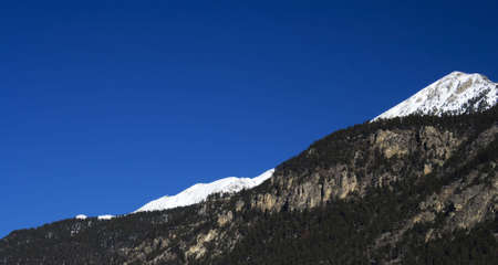 Mount with snow from France (Briancon)