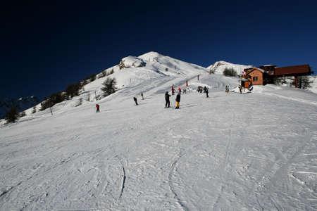 Ski station in Puy St. Vincent (France)