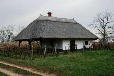 Traditional wine cellar form Buzs�k (Hungary) Stock Photo