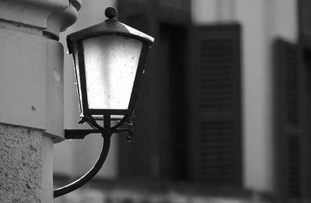 Sunshine caught in the wrought iron lamp