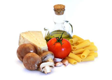 Pasta, the italian way Stock Photo