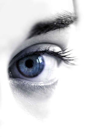 womans: Blue womans eye