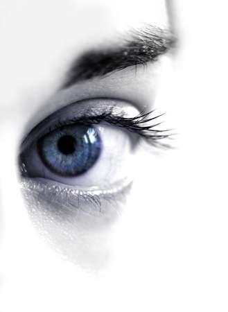 Blue womans eye