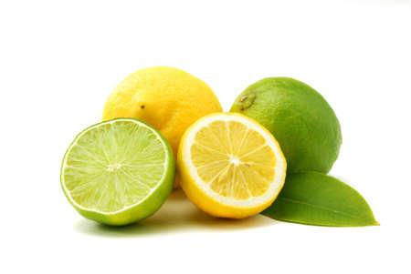 Lemons and green limes