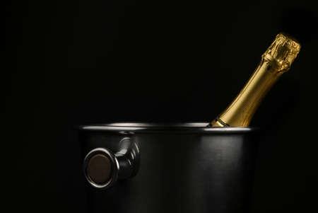 bouteille champagne: Seau � champagne Banque d'images