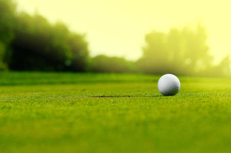 pelota de golf: En el agujero