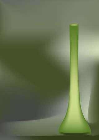 mesh: green flower vase on faded background - mesh design