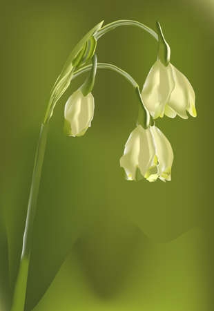 mesh: stylised flower on a green background -mesh work