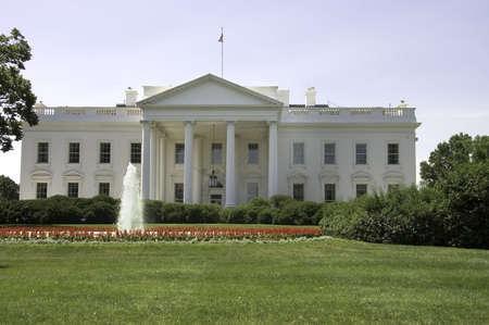 Front view of White House, Washington, DC