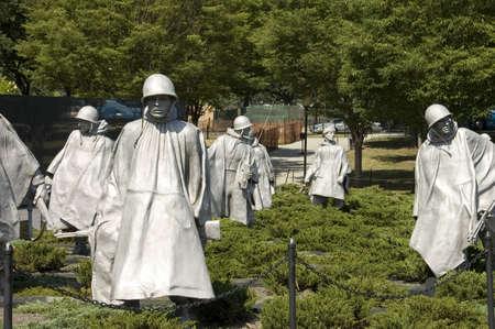 ARLINGTON, VIRGINIA - JUNE 24TH;  Memorial sculptures of Korean War in Arlington National cemetery Virginia USA, 24th June 2007