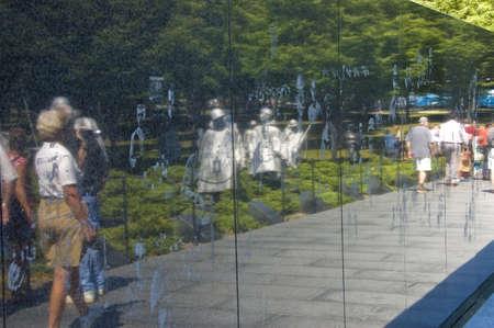 ARLINGTON, VIRGINIA - SEPTEMBER 24TH: Vietnam wall memorial in Arlington Virginia, USA, 24th September, 2007
