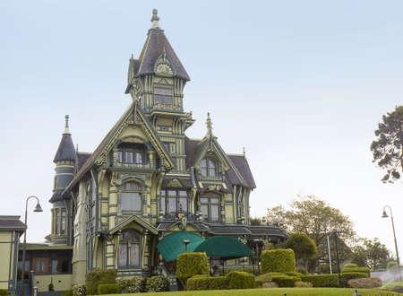 ARCATA, CALIFORNIA - MAY 9th; beautiful green mansion, Victorian sytle, Arcata,California, 9 May 2006