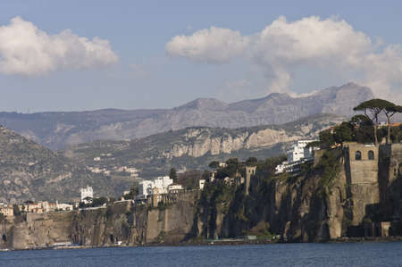 17th: Sorrento, Italy - March 17th, 2006 : scenic view  of Sorrento Bay and harbor, Italy Editorial