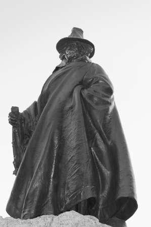 founding: Salem, Mass, USA - September 2th, 2005 : Impressive statue of the founding father of Salem City, Roger Conant, Salem, Mass, USA Editorial