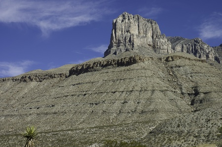 Texas, USA - April 23th, 2006   massive limestone formation  of El Capitan in Guadalupe Mountains National Parks,  Texas, USA photo
