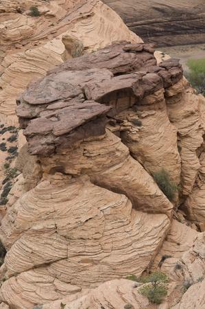 geologic: geologic formation of rock on Canyon de Chenley, Arizona, USA