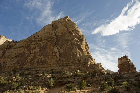 Utah, USA - April 29th, 2006 : rock formations on the road to Cottonwood Canyon Road in  Grand Staircase- Escalante National Monument,  Utah, USA.