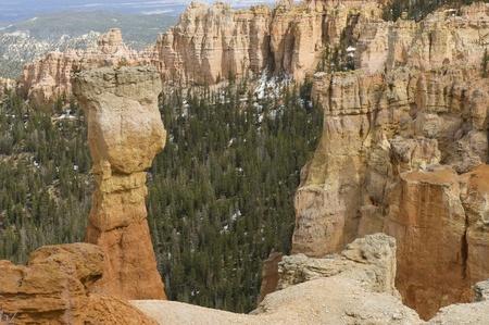 Utah, USA - April 30th, 2006   The hoodoo called The Hunter  Agua Point, Bryce Canyon National Park, Utah, USA Stock Photo - 12813670
