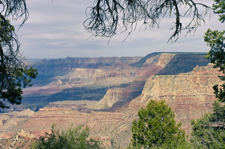 Arizona, USA - May 2th, 2006   Grand Canyon scenic view of South Rim, Arizona, USA Stock Photo - 12813733