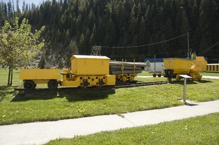 miners: Kootenai, Idaho - May 15th, 2006 : rocker dum used by prospectors and miners in  Coeur dAlene at the Mining Heritage Exhibition,  Kootenai County, Idaho, USA Editorial