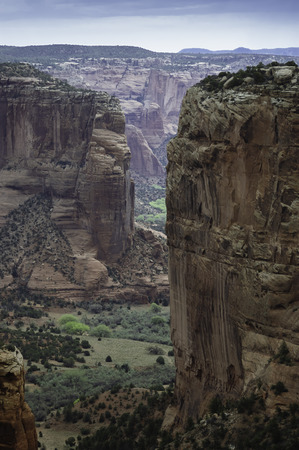 Canyon De Chelly, Navajos farm land  in Arizona, USA Stock Photo - 26047180